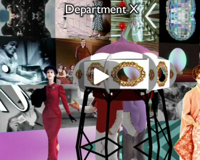 Department X – an accelerated vacation for the brain. Installation & Cabaret for DUCKiE 'Gay Shame' at the Brixton Academy.