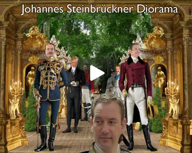 Diorama scenery box portrait of Johannes Steinbrückner
