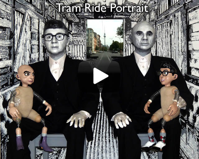 Tram Ride Portrait – Installation featured in Selbst Portrait exhibition at the Schwules Museum, Berlin.